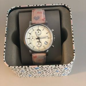 Fossil watch with engraving